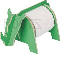 Rhino - 3d puzzle tissue holder