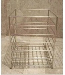cube stainless steel towel basket