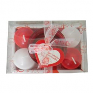 5 Piece Valentine Candle Set