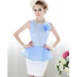 Sky Blue Chiffon Dress