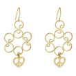 Golden Heart Dangle Earrings (pack of 1 EA)