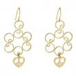 Golden Heart Dangle Earrings (pack of 1 EA)