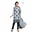 Latest Grey Chanderi Dressmaterial Wholesaler