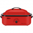1425-Watt, 18-Quart Professional Porcelain Roaster Oven with Red Finish